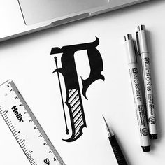 Letter P monogram! ♠ #illesso #customtype #customlettering #customtypography #goodtype #thedailytype #type #typism #typegang #typespot #typography #typematters #brushtype #handtype #handdrawn #handmadefont #letters #lettering #letteringdesign #pen #ink #illustration #illustrated #font #design #script #sketch #drawing #thefinelab #todaystype