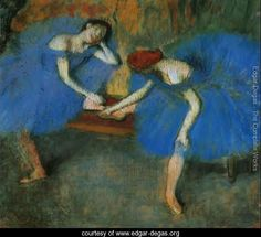 Two Dancers at Rest or, Dancers in Blue, c.1898 - Edgar Degas - www.edgar-degas.org