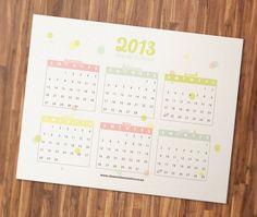 Free Printable 2013 Calendar