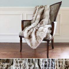 Wild Mannered Luxury Long Hair Faux Fur 54x36 Lap Throw | Overstock.com Shopping - The Best Deals on Throws