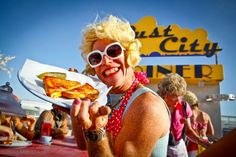 Tips for eating at Burning Man // Grilled Cheese at Dust City Diner at Burning Man 2011. Photo Credit: Ana Grillo