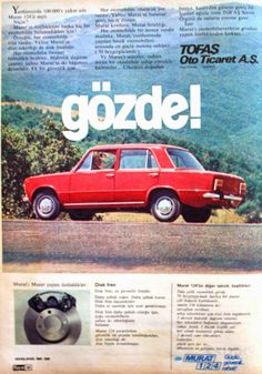 OĞUZ TOPOĞLU : murat 124 1975 nostaljik eski reklamlar Fiat Abarth, Fiat 500x, Fiat Panda, Old Advertisements, Car Advertising, Retro Cars, Vintage Cars, Ferrari, Good Old Times