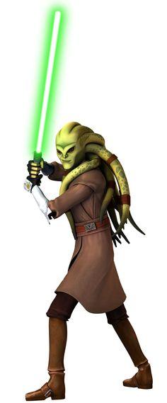 Jedi Master Kit Fisto, master of Form I(Shcii-shcoo (determination)