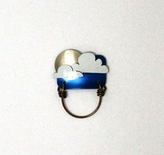 Blue Cloud Magnetic Eyeglass Holder by LauraWilsonGallery on Etsy, $45.00