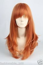 HOT Sell! Popular New long Orange Straight Cosplay wig
