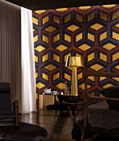 "Glittery tiles! ""Suite"" pattern by Bisazza Design Studio."