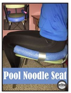 [Source: Your Therapy Source] Do you have any students who need just a little extra reminder of where the chair ends?  Maybe an external cue of where to put their hips?  Grab a pool noodle.  Measure it to fit the seat of the chair and cut off the excess.  Use some duct tape and strap it to the chair.  That's it – for just a dollar now you have a classroom chair with that extra cue to help students with body awareness issues or balance concerns.  Give it a try! Support our Contributors…