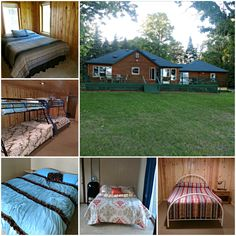 That's a lot of beds! Fill them with your loved ones when you plan your reunion for friends or family in 2020 — Click for cabin rates and amenities at Hackensack Family Reunion Cabin on Pleasant Lake in central Minnesota.