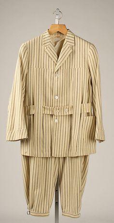 Men's striped wool Norfolk suit, by L. P. Hollander & Co., Boston, American, 1907.