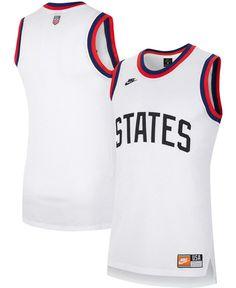 Men's White Us Soccer Basketball Jersey - White