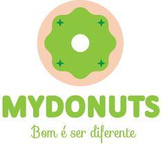 Logo MYDONUTS - versão preferencial limão.