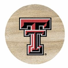 Texas Tech University Red Raiders Sandstone Beverage Coaster, Set of 8