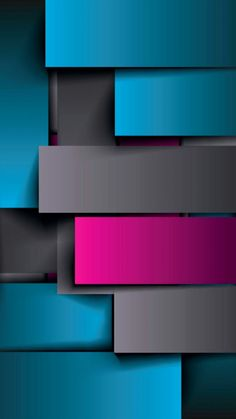 Teal Grey and Pink Geometric Wallpaper