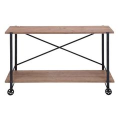 Metal/ Wood Console Table