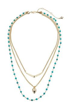 Vera Bradley Stylist Necklace Set (Gold Tone) Necklace - Vera Bradley, Stylist Necklace Set, 22008-236082, Jewelry Necklace General, Necklace, Necklace, Jewelry, Gift - Outfit Ideas And Street Style 2017