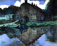 Piet Mondrian: House on the Gein, 1900