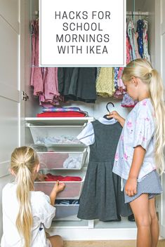 Beating the morning madness with IKEA - Five Little Doves Ikea Childrens Wardrobe, Childrens Wardrobes, Ikea Wardrobe, Back To School Hacks, Back To School Supplies, Back To School Outfits, Kids Outfits, School Tips, Craft Room Storage