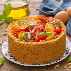 Cheesecake al pesto con pomodorini Ricotta, Pesto, Oreo, Cheesecake, Desserts, Food, Tailgate Desserts, Deserts, Cheesecakes