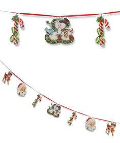 Retro Christmas Diecut Garland from The Holiday Barn
