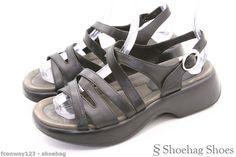 Dansko Womens Ankle Strap Sandals Size 6.5 Black Leather Lolita EUC Comfort #Dansko #AnkleStrap
