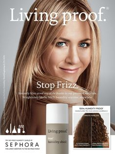 Living Proof HairCare Advertising @ Sephora with Jennifer Aniston