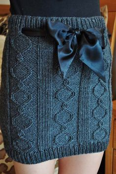 """Ravelry: """"Cables and Curves"""" Cable Knit Skirt by Lauren Riker"""