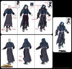 SWTOR // Garment concepts at different stages through character advancement