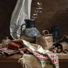 Rustic Still Life 2 Still Life 2, Be Still, Still Life Pictures, Cool Paintings, Still Life Photography, Art Lessons, Objects, Rustic, Fine Art
