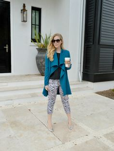 """Eight Sixty Abstract Houndstooth Pant Featured on the blog """"Fash Bouleveard"""""""