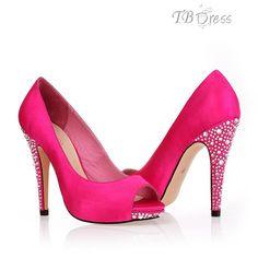 Hot pink wedding shoes!!shorter heel