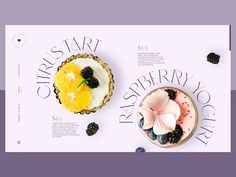 Niche Cake Bar Website Design designed by tubik. Connect with them on Dribbble; the global community for designers and creative professionals. Graphic Design Magazine, Food Graphic Design, Food Poster Design, Magazine Design, Website Design Inspiration, Website Design Layout, Layout Design, Graphisches Design, Food Design