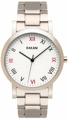 Rakani Running Behind 40mm Checkered Watch with Stainless Steel Band: Watches: Amazon.com