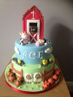 All fun on the farm - Cake by Mrs Macs Cakes