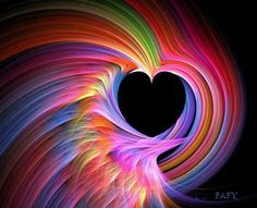 ♥HRT♥ 53  RAINBOW HEART DESIGN