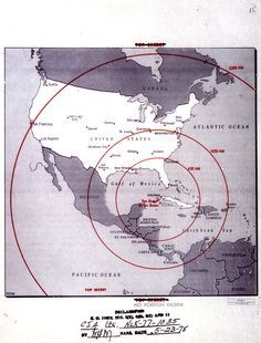 At Am On October President Kennedy Was Alerted A Soviet Missile Base Was Under Construction Near San Cristobal Cuba This Map Showing The Range Of The