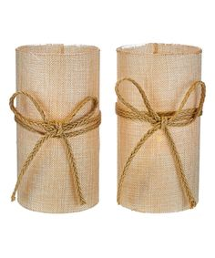 Love this Jute Bow Flameless Candle - Set of Two by Valerie Parr Hill on #zulily! #zulilyfinds
