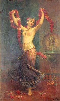 Hans Zatzka,The Harem Dancer oil painting reproductions for sale Fairies Mythology, Dance Oriental, Danza Tribal, Dance Paintings, Oil Paintings, Painting Art, Tribal Belly Dance, Art Brut, Belly Dance Costumes
