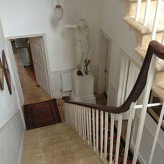 A view from the top of the first set of stairs at Pitt House, Bath (there are 7 floors!).