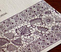 Padma letterpress wedding invitation design