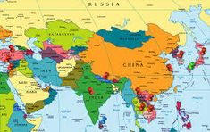 image result for world map asia