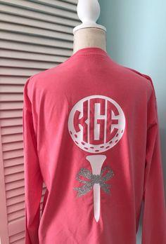 bd69d1e2 Golf Shirt with Monogram, Monogrammed Golf T-shirt, T-shirt for golfers,  Ladies Golf Tee with Monogram