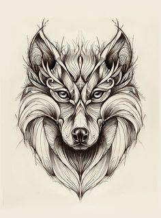 Wolf by madanmar.deviantart.com on @deviantART