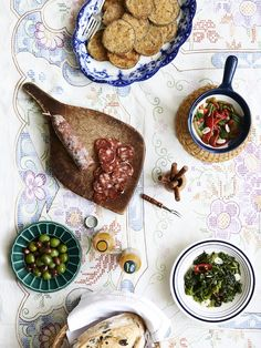 Nonna Corso's Antipasto including melanzane (eggplant), roasted peppers and rapini (greens). Recipe – Concetta Corso with Lisa Marie Corso. Photo – Eve Wilson. Styling – Lucy Feagins, styling assistant – Nat Turnbull.