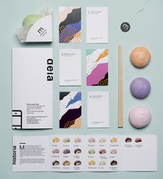 Vibrant identity system and packaging concept by Swedish designers Natasha Frolova, Louise Olofsson and Jessica Sjöstedt. More branding inspiration via Behance Corporate Design, Brand Identity Design, Graphic Design Branding, Logo Design, Retail Design, Business Design, Creative Business, Branding And Packaging, Stationary Branding