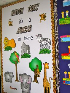 Part of the Jungle Theme Sunday School Room decorations I ...