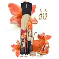 Maxi Flower Power, created by justbnadiva on Polyvore
