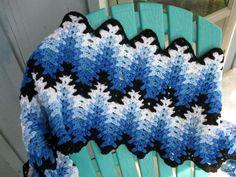 Lacy Chevron Afghan Pattern | My Lacy Chevron - Amish afghan -- JP