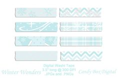 Check out Winter Wonders snow and sparkle Digital Washi Tape clip art by Candy Box Digital on Creative Market