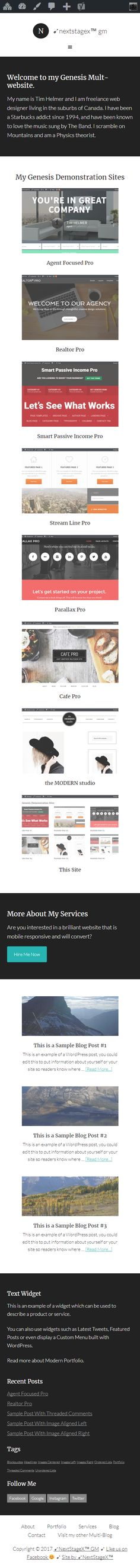 ➶NextStageX™ GM - Another Genesis Multisite Website, Design, Design Comics
