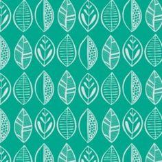 Jane Farnham - Beyond the Backyard - Leaves in Turquoise